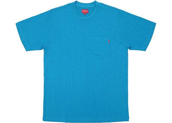 "SUPREME - Camiseta Pocket (SS18) ""Teal"""