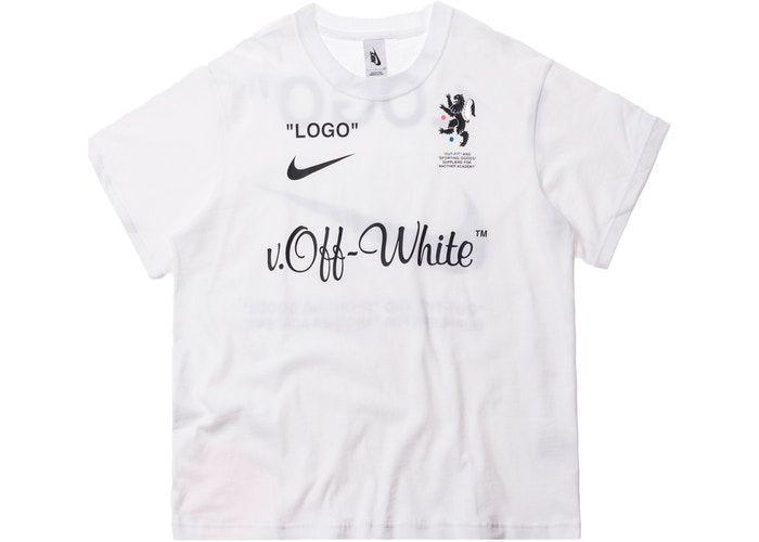 "NIKELAB x OFF-WHITE - Camiseta Mercurial NRG X FB ""Branco"" -NOVO-"