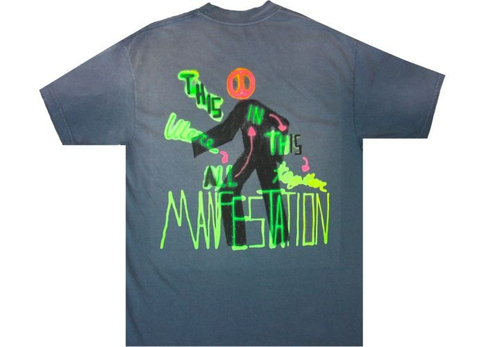 "TRAVIS SCOTT - Camiseta Astroworld Manifestation ""Cinza"" -NOVO-"