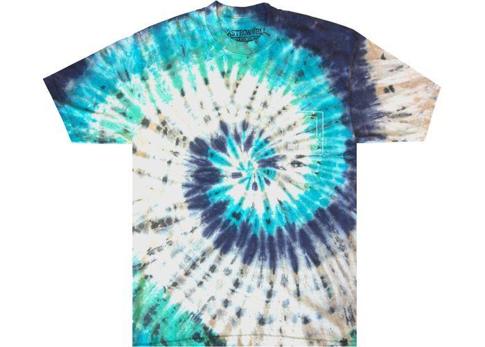 """TRAVIS SCOTT - Camiseta Astroworld Manifestation """"Tie Dye"""" -NOVO-"""
