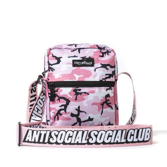 """ANTI SOCIAL SOCIAL CLUB - Bolsa Shoulder Side Camo """"Rosa"""" -NOVO-"""