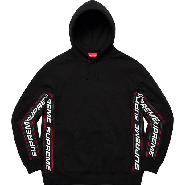 "SUPREME - Moletom Text Rib ""Black"""