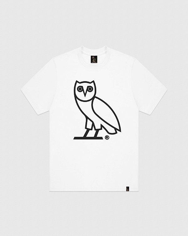 "OVO - Camiseta OWL Logo ""Branco"" -NOVO-"