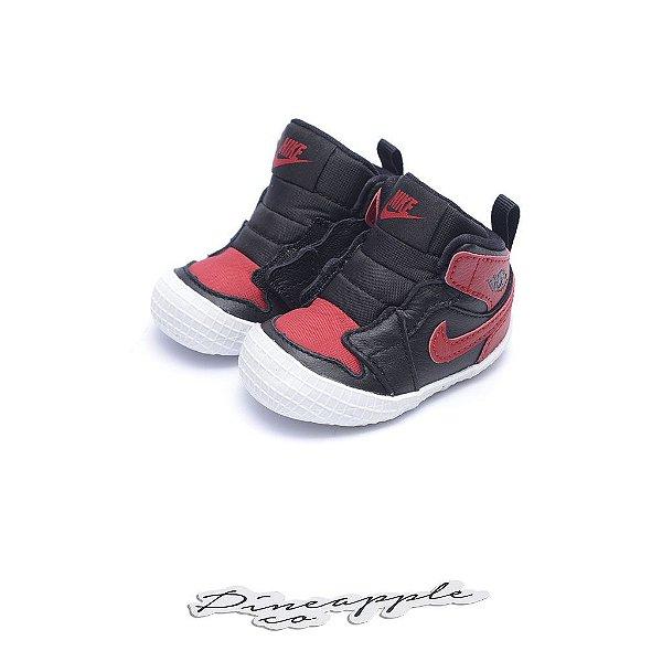 "NIKE - Air Jordan 1 Crib Bootie ""Bred"" (Infantil) -NOVO-"