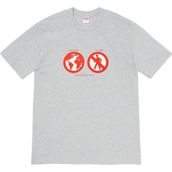 "SUPREME - Camiseta Save The Planet ""Cinza"" -NOVO-"