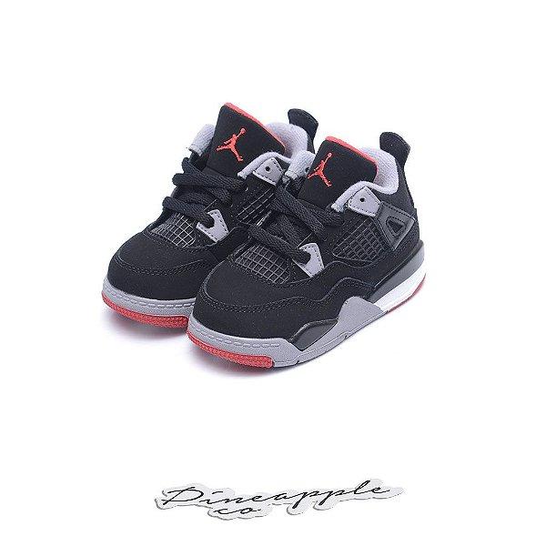 "Nike Air Jordan 4 Retro ""Bred"" (Infantil) -NOVO-"