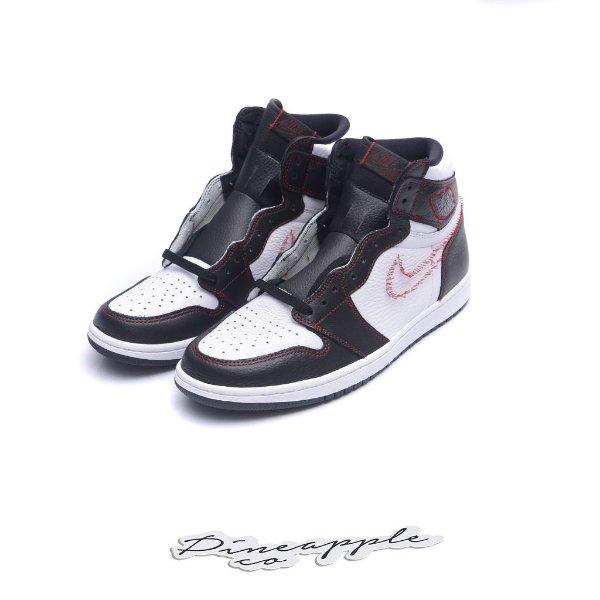"NIKE - Air Jordan 1 Retro Defiant ""White/Black/Gym Red"" -NOVO-"