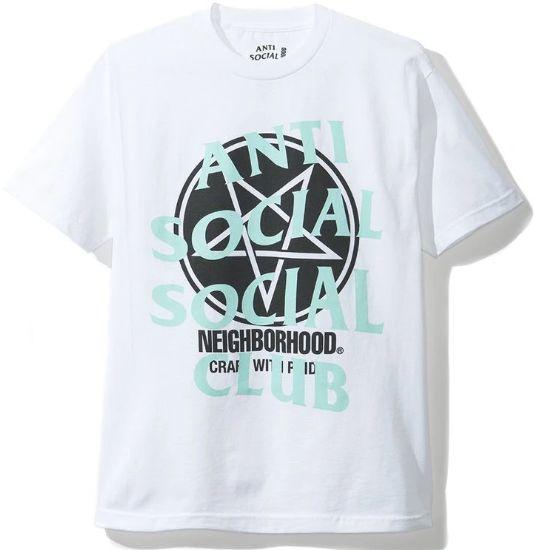 "ANTI SOCIAL SOCIAL CLUB x NEIGHBOURHOOD - Camiseta Filth Fury ""Branco"" -NOVO-"