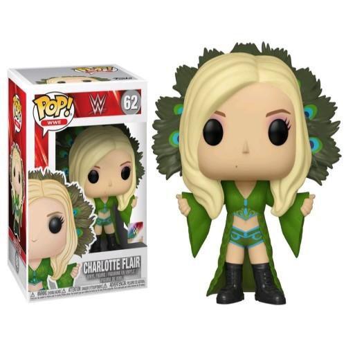 FUNKO POP! - Boneco WWE: Charlotte Flair #69 -NOVO-