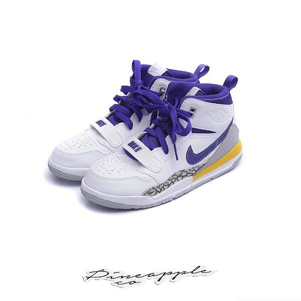 """NIKE - Air Jordan Legacy 312 """"Lakers"""" (Infantil) -NOVO-"""