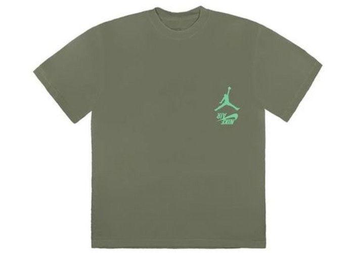 """TRAVIS SCOTT - Camiseta Jordan Cactus Jack Highest """"Verde Oliva"""" -NOVO-"""