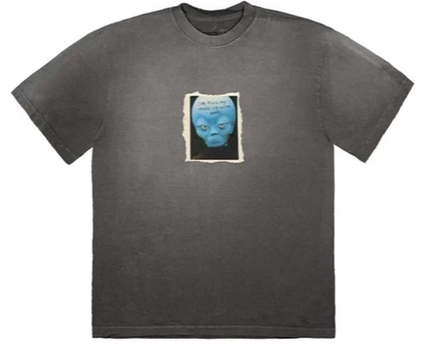 """TRAVIS SCOTT - Camiseta HITR Alien """"Preto"""" -NOVO-"""