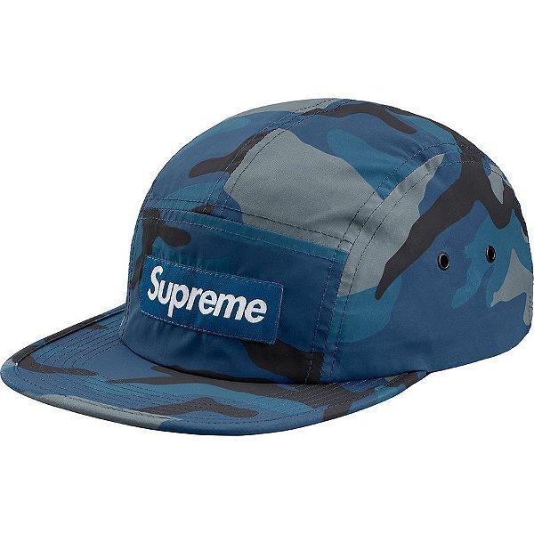 "SUPREME - Boné Camo Camp Reflective ""Blue"""