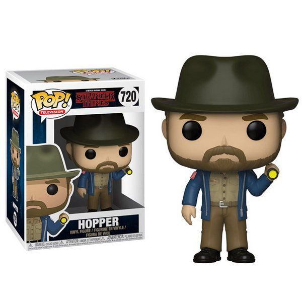 FUNKO POP! - Boneco Stranger Things: Hopper #720 -NOVO-