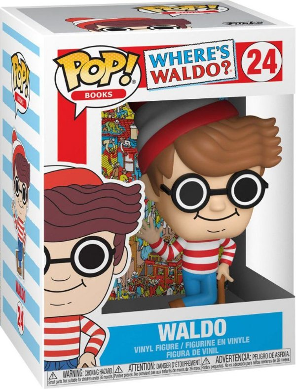 FUNKO POP! - Boneco Where's Waldo? #24 -NOVO-