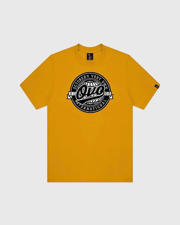 """OVO - Camiseta World Series """"Mostarda"""" -NOVO-"""