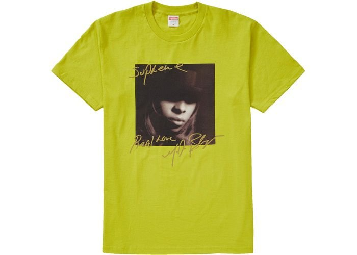 "SUPREME - Camiseta Mary J. Bleige ""Verde"" -NOVO-"