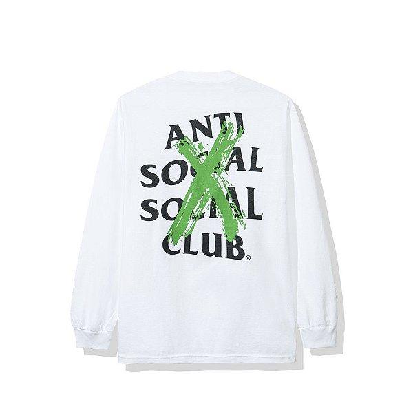 "ANTI SOCIAL SOCIAL CLUB - Camiseta Manga Longa Cancelled ""Branco"" -NOVO-"