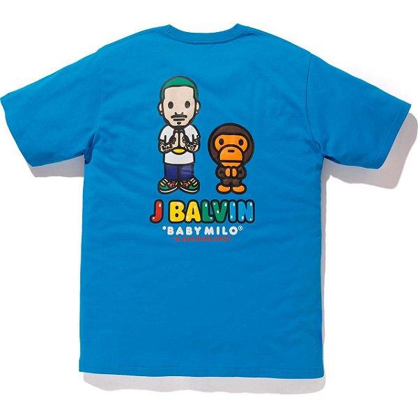 "BAPE x J.BALVIN - Camiseta Milo ""Azul"" -NOVO-"