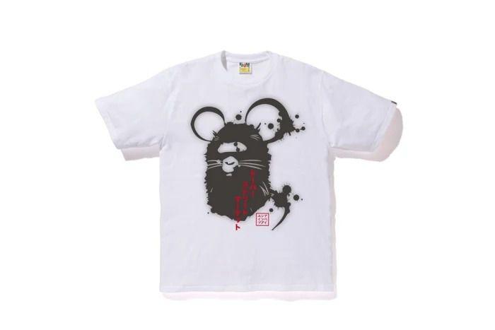 "BAPE x DOVER STREET MARKET- Camiseta Year Of The Mouse ""Branco"" -NOVO-"