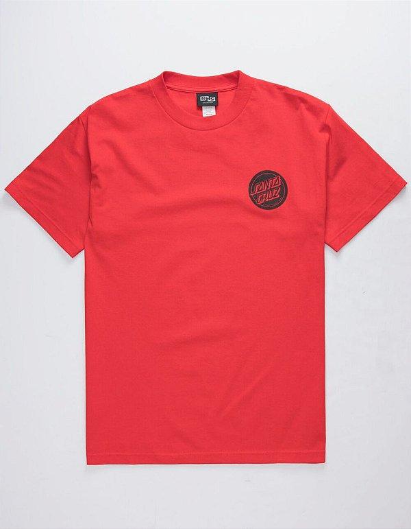 "SANTA CRUZ - Camiseta Revers Dot ""Vermelho"" -NOVO-"