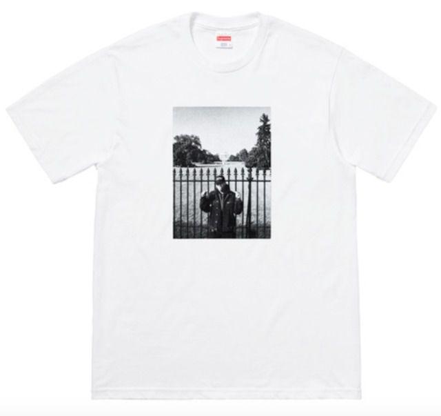 "SUPREME x UNDERCOVER x PUBLIC ENEMY - Camiseta White House ""Branco"" -NOVO-"
