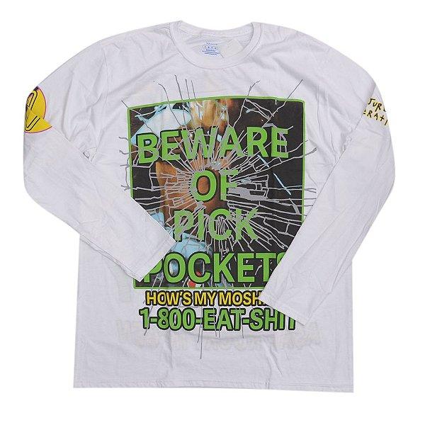 "A$AP ROCKY - Camiseta Manga Longa Injured Generation Merch ""Branco"" -NOVO-"