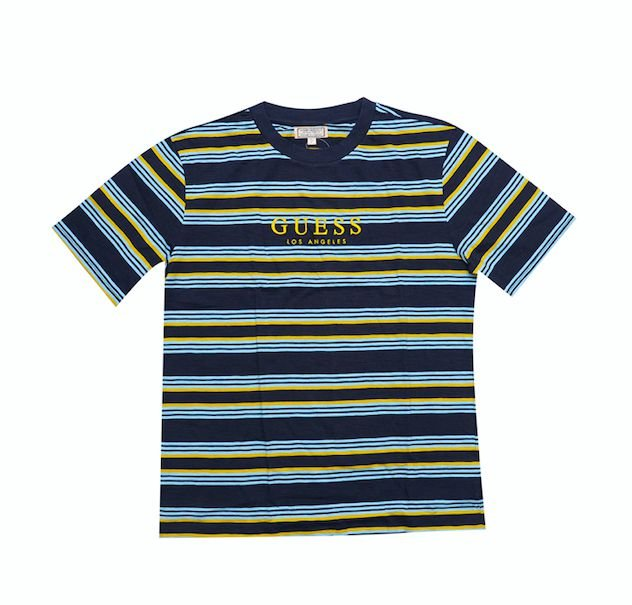 """GUESS - Camiseta Dylan Striped """"Yellow/Blue"""""""