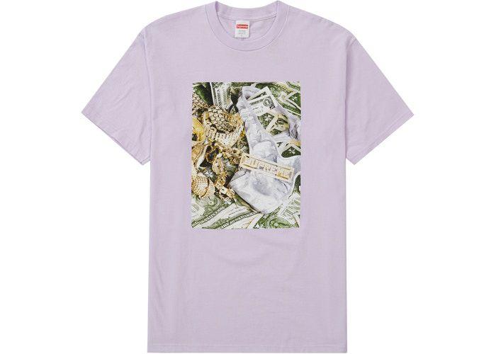 "SUPREME - Camiseta Bling ""Lilás"" -NOVO-"