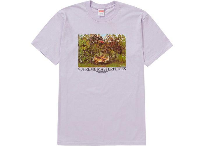 """SUPREME - Camiseta Masterpieces """"Lilás"""" -NOVO-"""