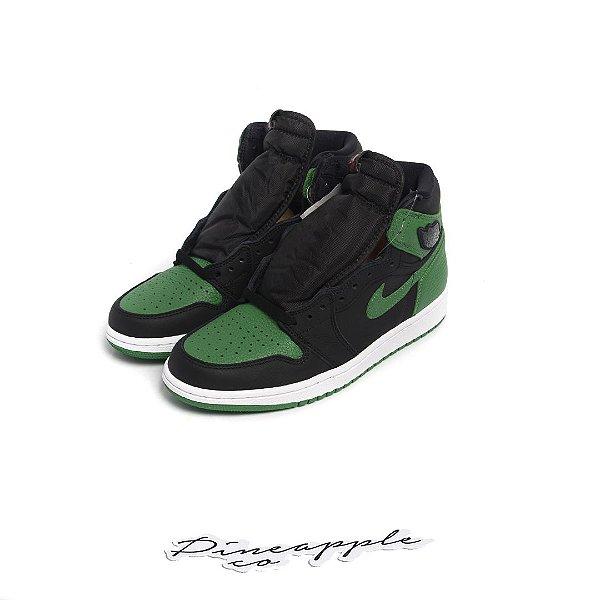 "NIKE - Air Jordan 1 Retro ""Pine Green/Black"" -NOVO-"