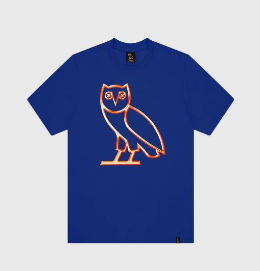 """OVO - Camiseta Chrome """"Azul/Laranja"""" -NOVO-"""
