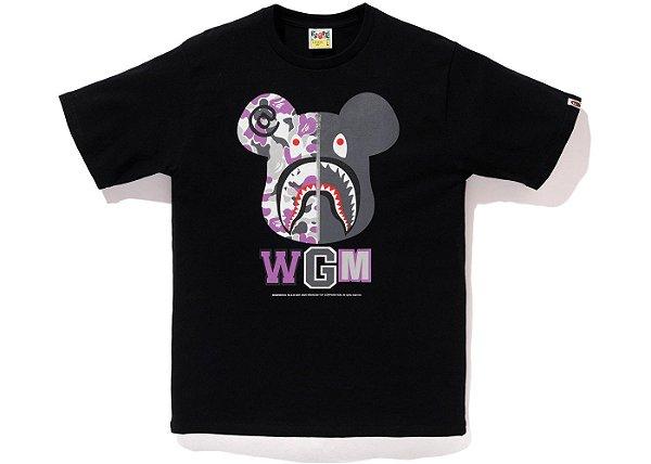 """BAPE x MEDICOM - Camiseta NYC Shark Bear """"Black"""""""