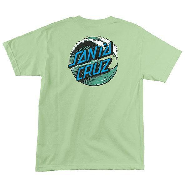 "SANTA CRUZ - Camiseta Great Wave Dot ""Menta"" -NOVO-"