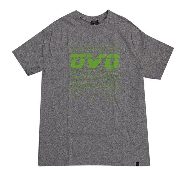 "OVO - Camiseta Neon Green Logo ""Cinza"" -NOVO-"