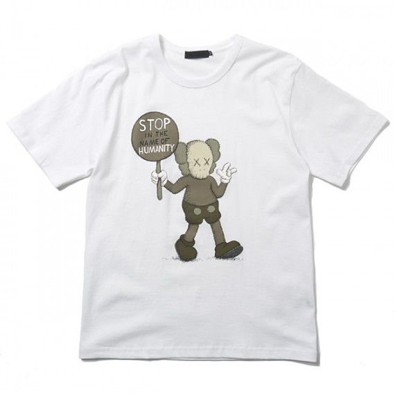 "ORIGINAL FAKE - Camiseta Kaws Stop In The Name Of Humanity ""White"""