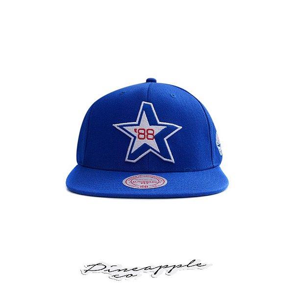 """MITCHELL & NESS - Boné All Star 88 Star HWC Snapback """"Azul/Verde"""" -NOVO-"""