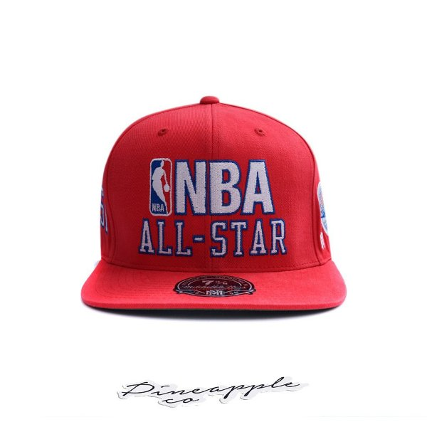 "MITCHELL & NESS - Boné NBA Fitted All Star 7 3/8 ""Red"""