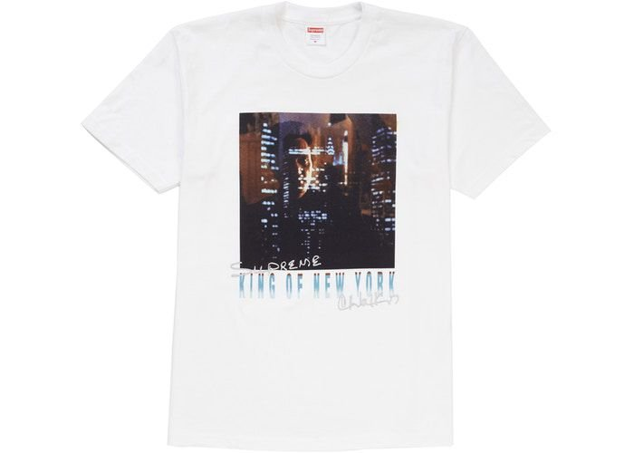 "SUPREME - Camiseta King of New York ""Branco"" -NOVO-"