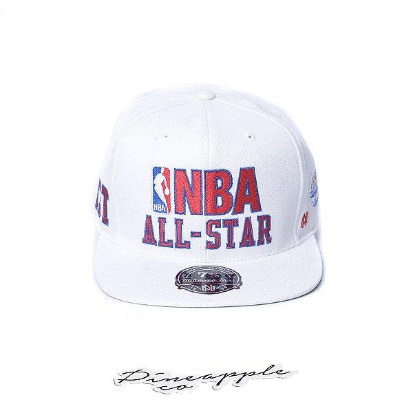 """MITCHELL & NESS - Boné NBA Fitted All Star 7 3/8 """"Branco/Verde"""" -NOVO-"""