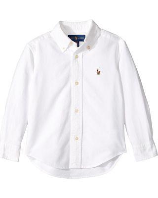 "POLO RALPH LAUREN - Camisa Kids ""Branco"" (Infantil) -USADO-"