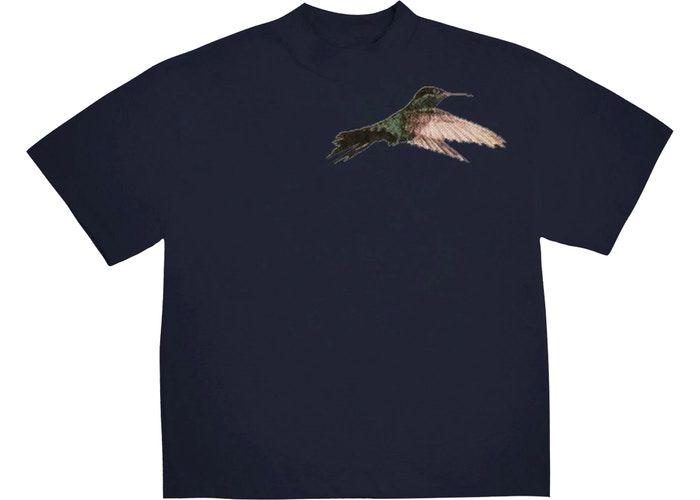 "KANYE WEST - Camiseta Jesus is King In Kingston, Jamaica Bird ""Navy"""