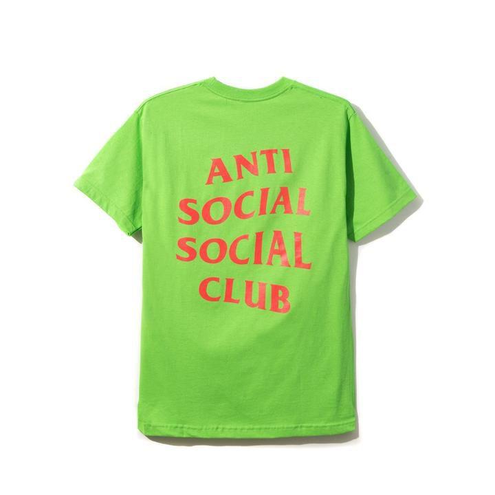"ANTI SOCIAL SOCIAL CLUB - Camiseta Signs ""Verde Neon"" -NOVO-"