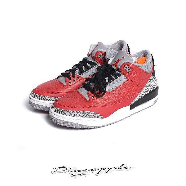 "NIKE - Air Jordan 3 Retro ""Fire Red Cement"" -NOVO-"