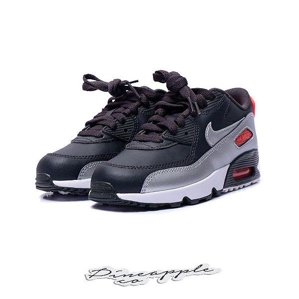 "NIKE - Air Max 90 ""Black/Grey"" (Infantil) -NOVO-"