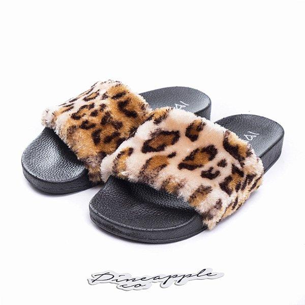 "Chinelo Felpudo ""Leopard"" (Infantil) -NOVO-"