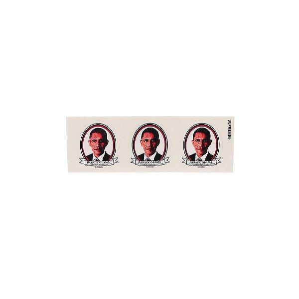 """SUPREME - Adesivo SS17 Barack Obama """"Branco"""" -NOVO-"""