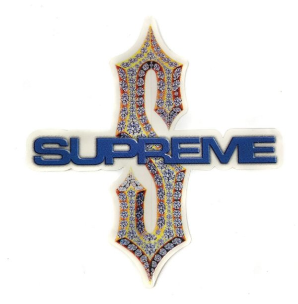 "SUPREME - Adesivo SS18 Diamond Bling S ""Azul"" -NOVO-"