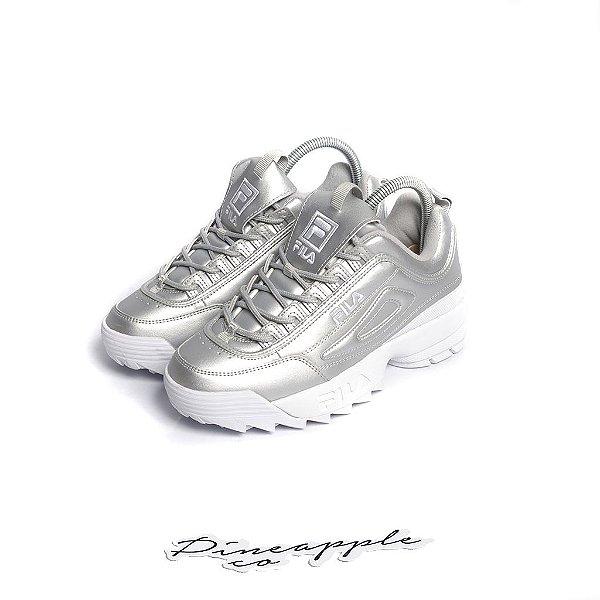 "FILA - Disruptor 2 Metallic ""Silver"" -NOVO-"