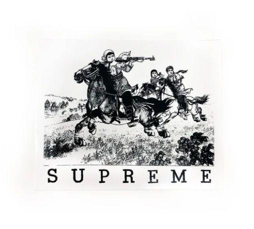 SUPREME - Adesivo SS19 Riders Cowboy